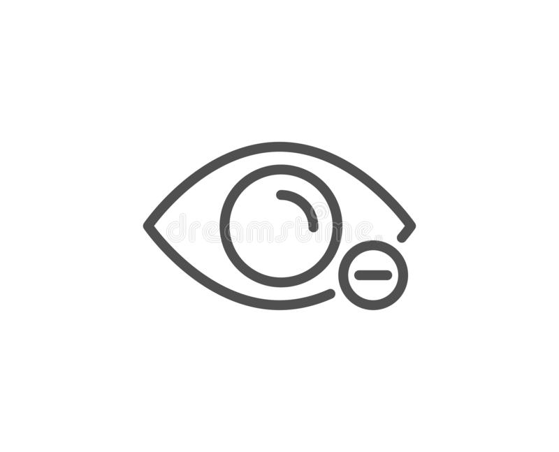 Myopia line icon. Eye diopter sign. Optometry vision. Vector. Myopia line icon. Eye diopter sign. Optometry vision symbol. Quality design element. Linear style vector illustration