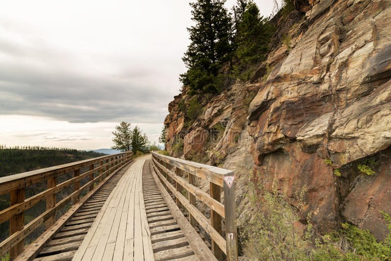 Myra Canyon immagine stock