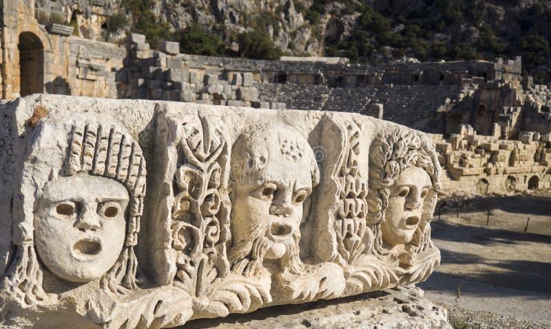Myra de oude plaats in Turkije stock foto's