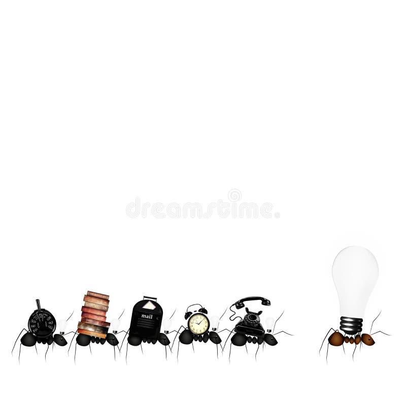 Myror affärslag royaltyfri illustrationer