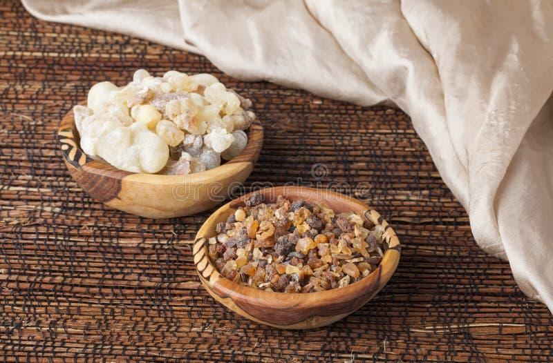 Myrrh και frankincense στοκ εικόνες