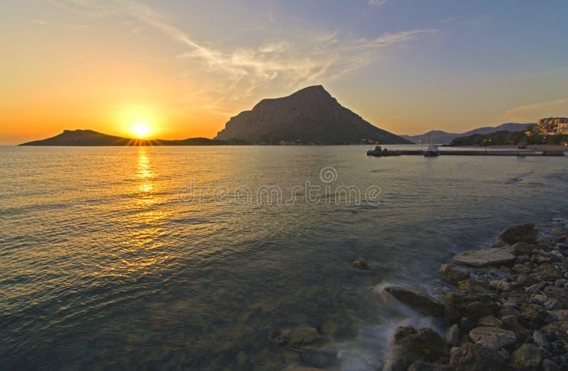 Myrties Kalymnos Grekland royaltyfri foto
