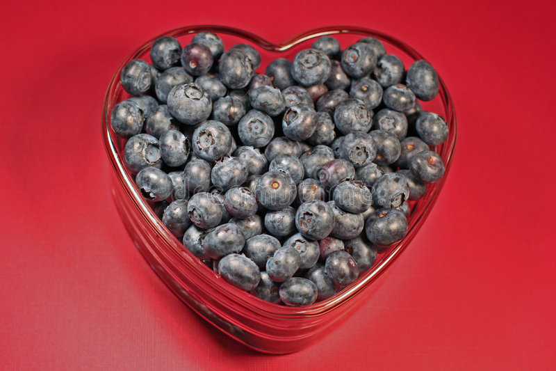 Myrtilles Heart-healthy image stock