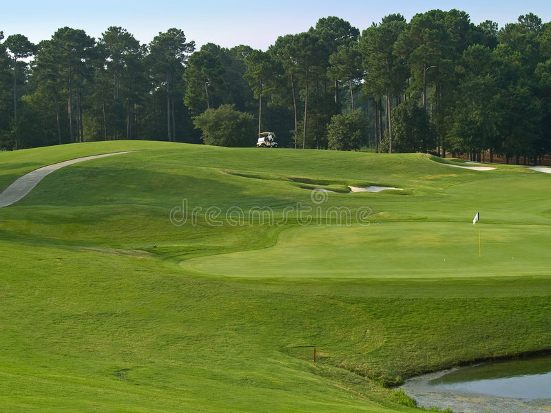 Myrtle Beach高尔夫球场 免版税库存照片