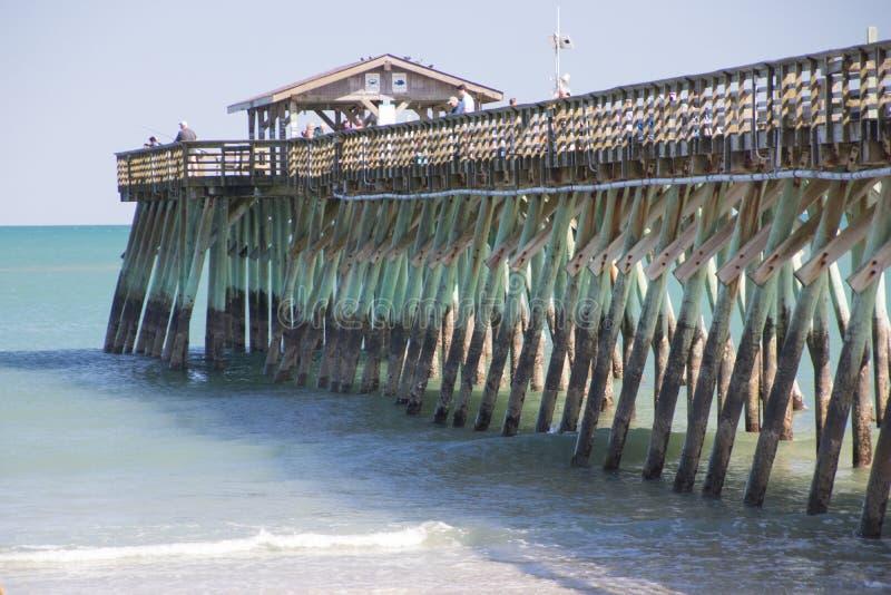 Myrtle Beach, αποβάθρα αλιείας κρατικών πάρκων της νότιας Καρολίνας στοκ φωτογραφία
