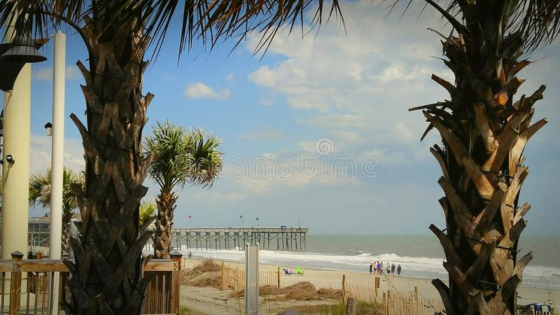 Myrtle Beach & пристань стоковая фотография rf