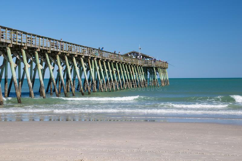 Myrtle Beach, Carolina State Park Fishing Pier sul imagem de stock royalty free