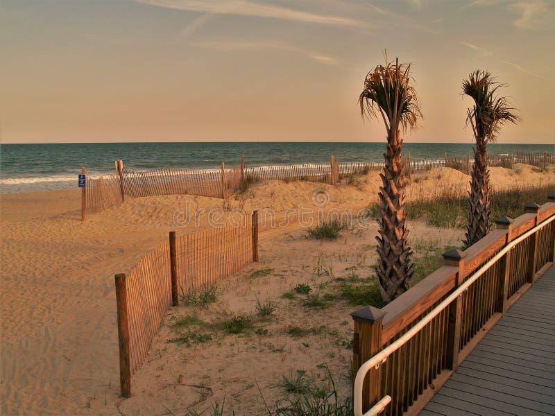 Myrtle Beach, Carolina Sunset del sud fotografia stock libera da diritti