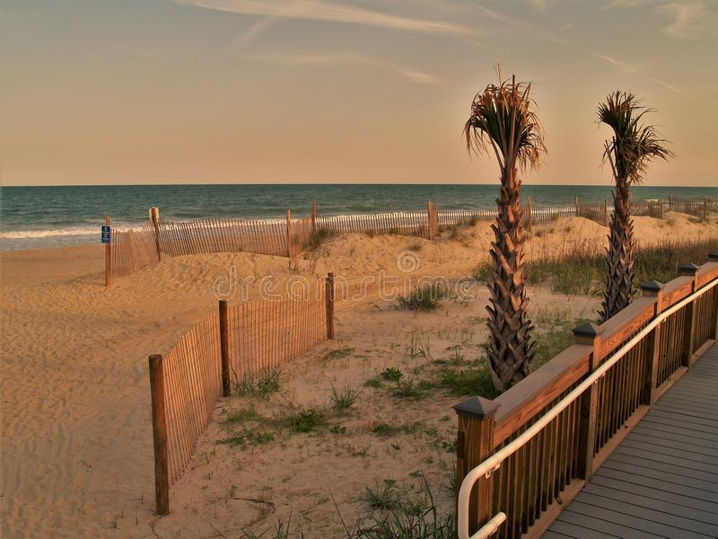 Myrtle Beach, Carolina Sunset del sur foto de archivo libre de regalías
