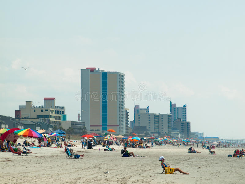 Myrtle Beach. Is a coastal city on the east coast of the United States in Horry County, South Carolina royalty free stock image