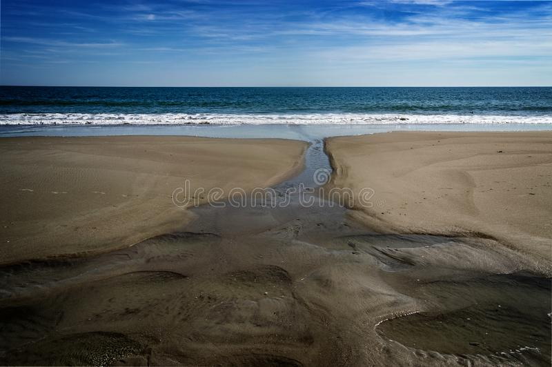 Myrtle Beach ed oceano fotografia stock