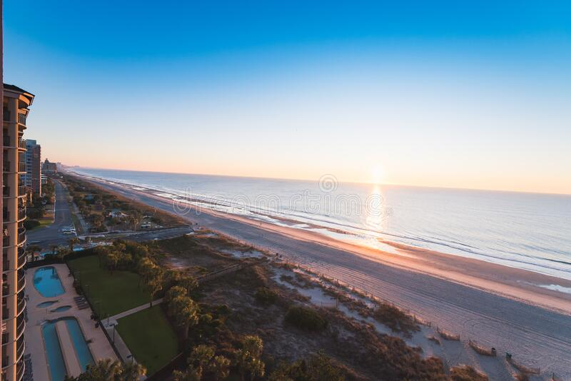 Myrtle Beach. Empty Myrtle Beach in South Carolina, USA royalty free stock image