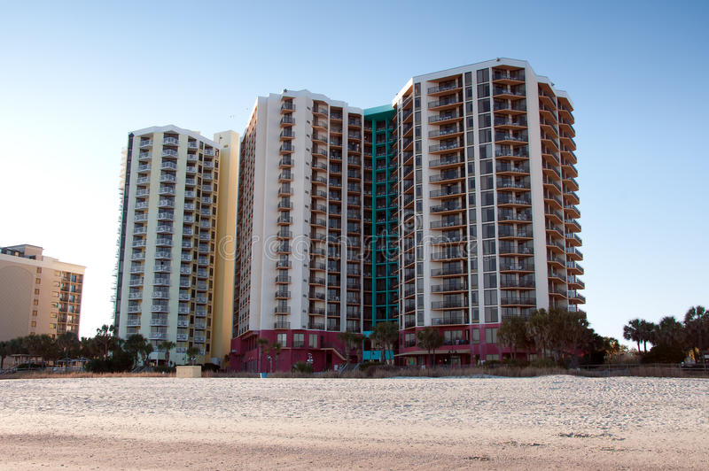 Myrtle Beach Hotels royalty free stock images
