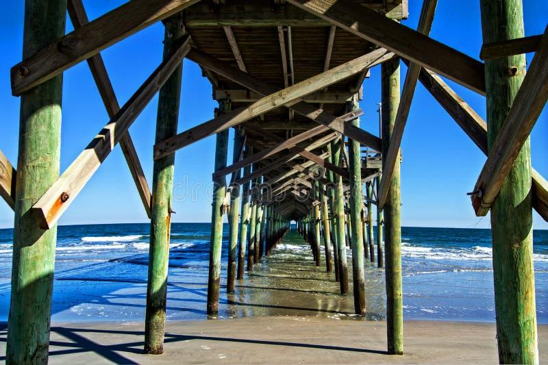 Myrtle Beach Ocean Pier imagen de archivo