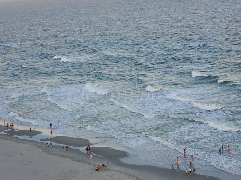 Myrtle Beach på soluppgång för kust för soluppgånghavshav härlig arkivfoton