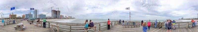 MYRTLE BEACH SC - APRIL 4, 2018: Stadspanoramautsikt från pet royaltyfria foton