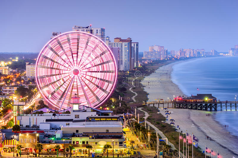 Myrtle Beach Skyline stockbild