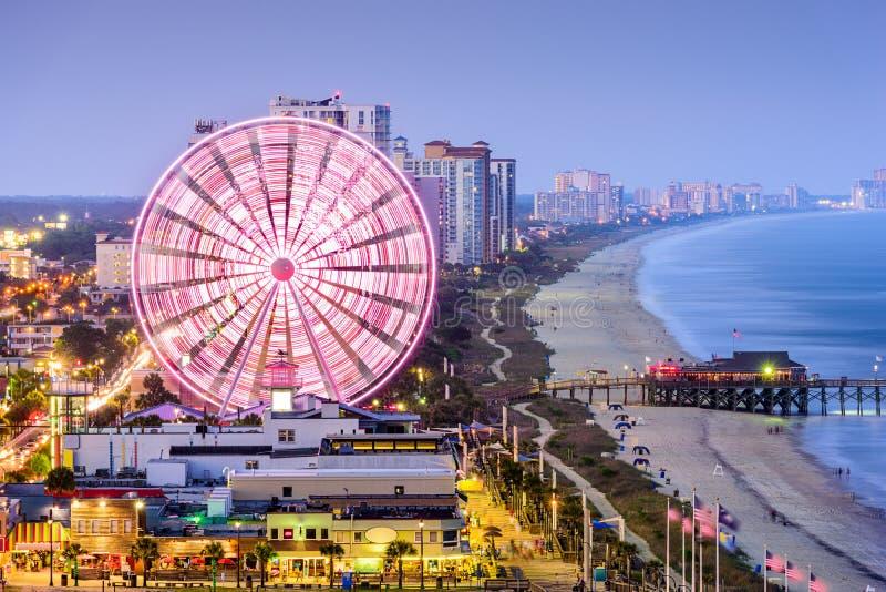 Myrtle Beach Skyline imagem de stock