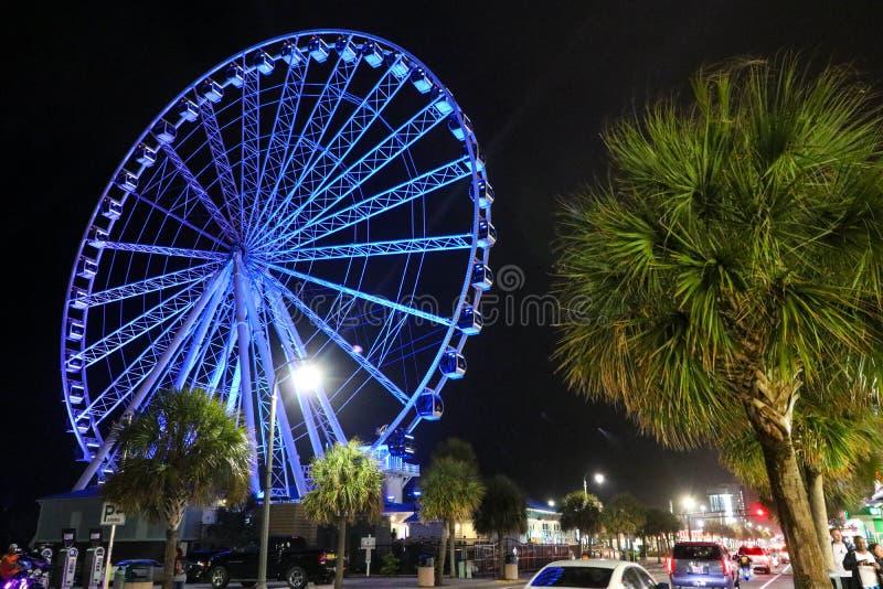 Myrtle Beach Skywheel royaltyfria foton