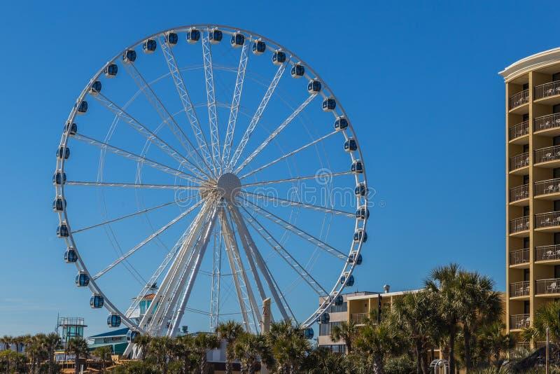 Myrtle Beach Skywheel стоковая фотография