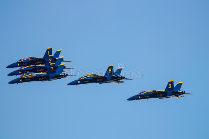 Myrtle Beach South Carolina Air show med de blåa änglarna arkivfoto