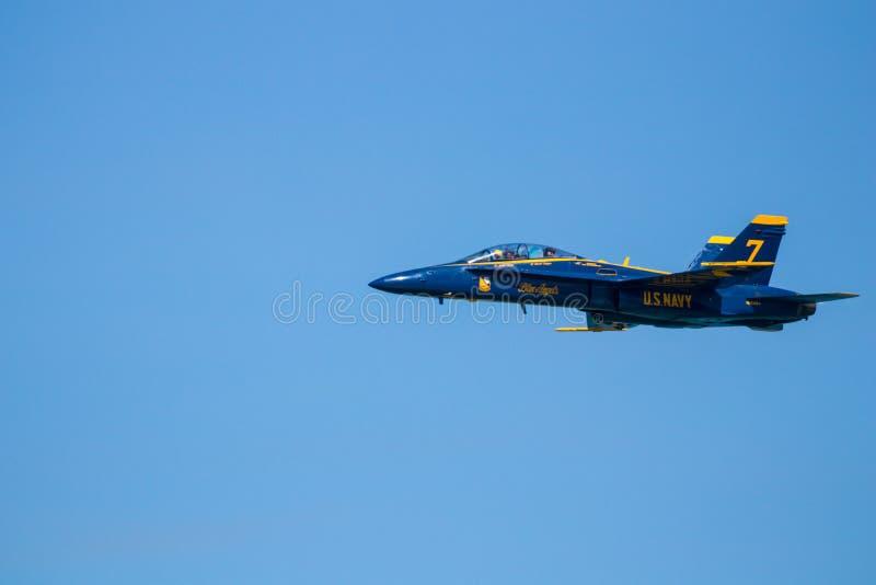 Myrtle Beach South Carolina Air show med de blåa änglarna royaltyfri foto
