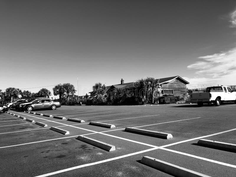 Myrtle Beach State Park parkeringsplats arkivfoton