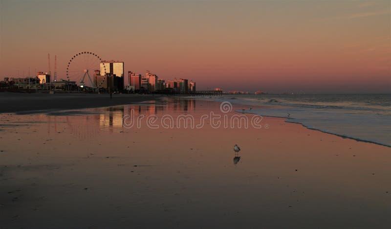 Myrtle Beach Sunset imagen de archivo libre de regalías