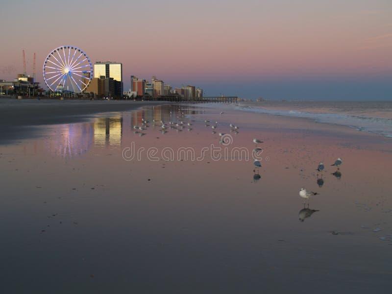 Myrtle Beach Sunset royalty free stock image