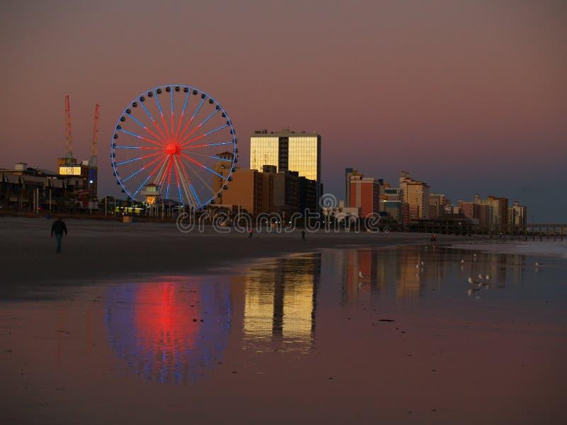 Myrtle Beach Sunset stock photography