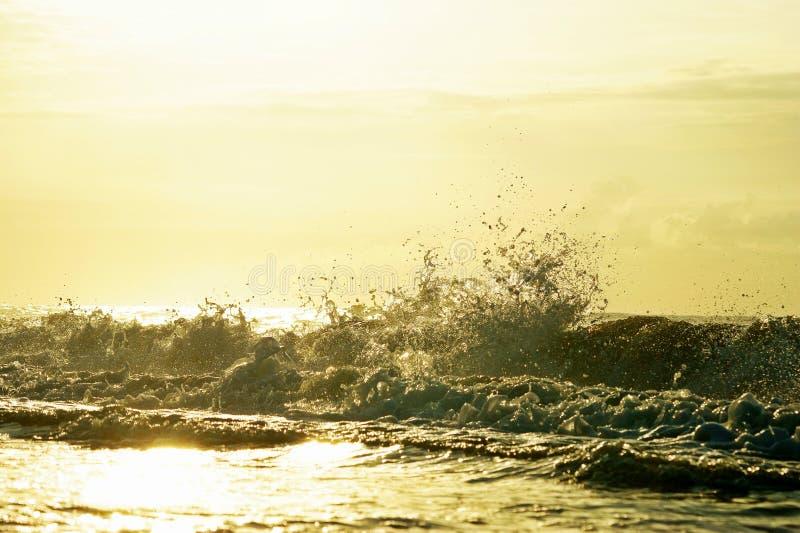 Myrtle Beach und Wellen lizenzfreie stockbilder