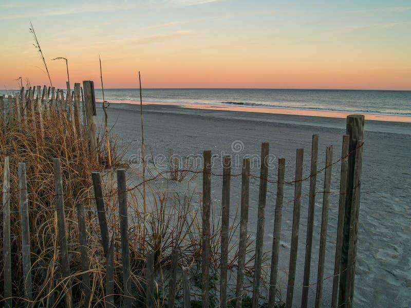Myrtle Beach, Zuiden Carolina Sunset royalty-vrije stock fotografie