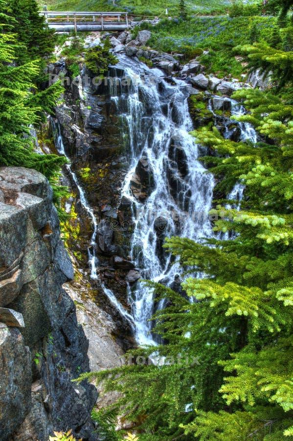 Myrtle Falls, supporto Rainier National Park immagine stock