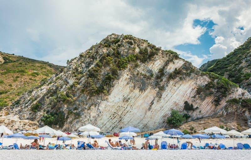 Myrtos Beach Ionian Islands stock photo