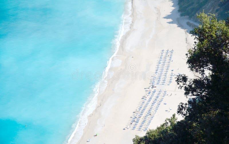 Myrtosstrand van Kefalonia-eiland royalty-vrije stock foto's