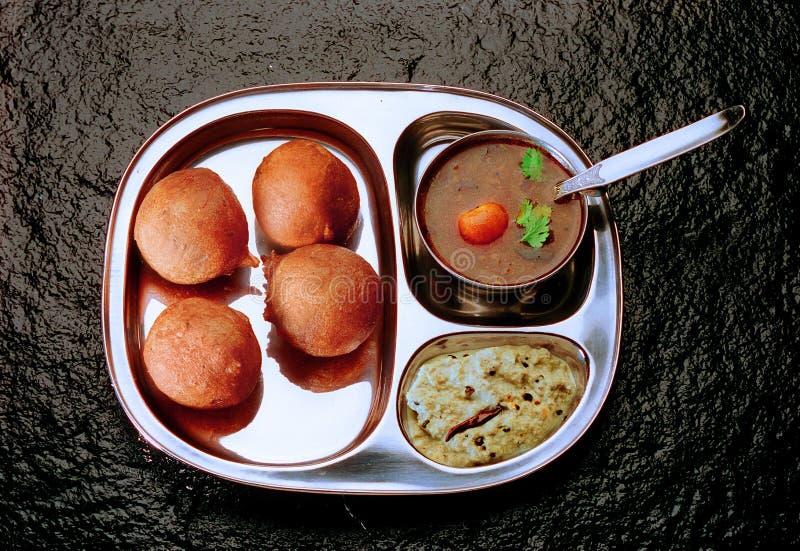 Mysore Bhajji with Sambar & Chutney. South Indian breakfast Mysore Bhajji with Sambar & Chutney royalty free stock photos