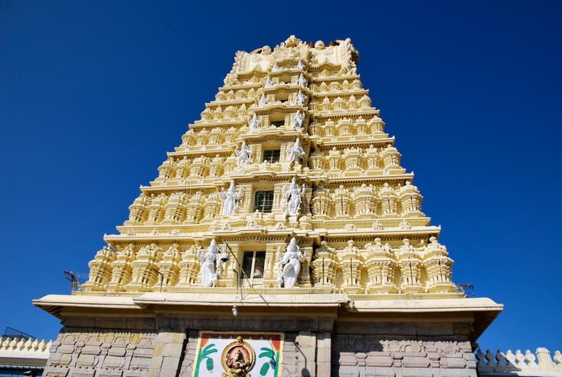 Mysore Chamundeshwari Temple In India Royalty Free Stock Photos