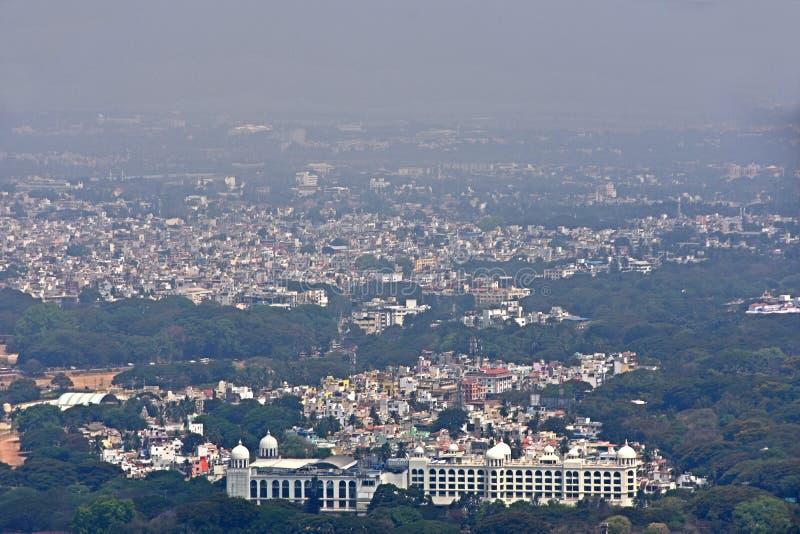 Mysore da sopra immagini stock
