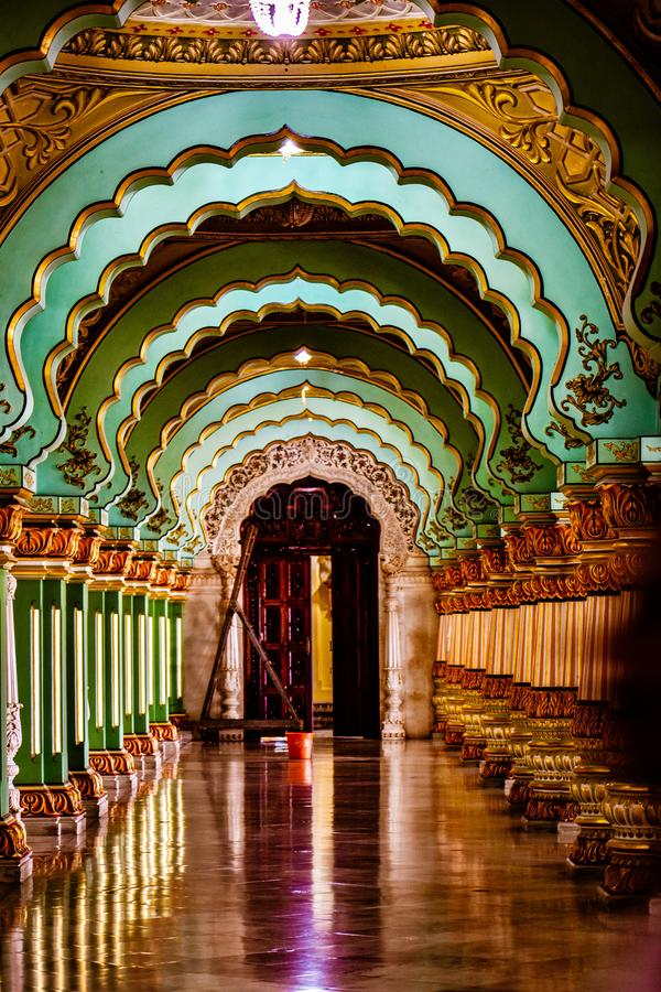 Mysore pałac, India fotografia royalty free