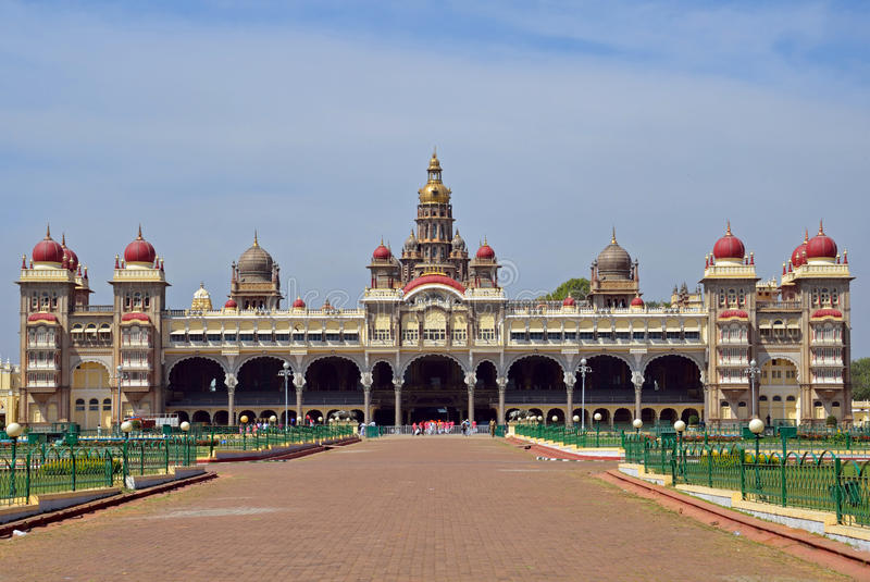 Mysore pałac, India zdjęcie royalty free