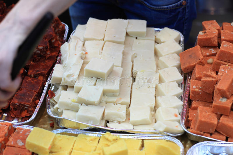 Mysore pak. Is a sweet dish usually served as dessert, India stock photo