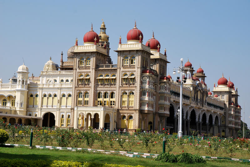 Mysore palace in India royalty free stock photography