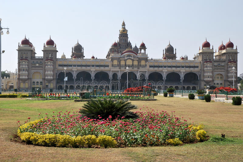 The Mysore palace in India royalty free stock image