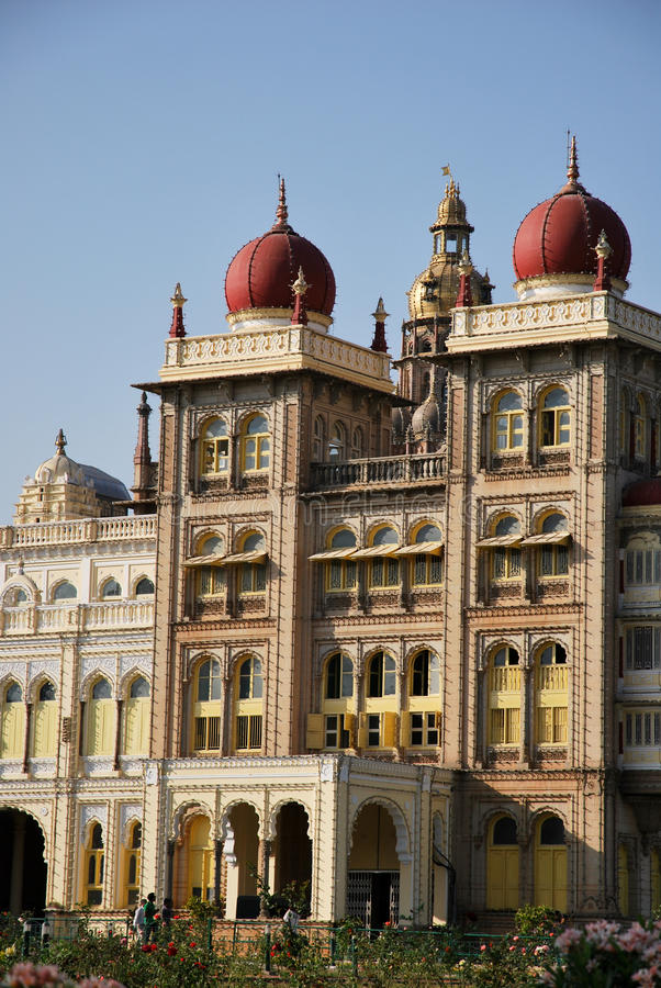 Mysore palace in India stock image