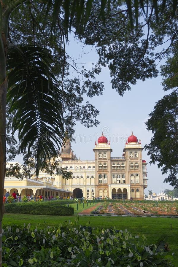 Mysore Palace, Karnataka, India. Mysore Palace is a historical palace and a royal residence at Mysore in the Indian State of Karnataka. It is now the second most stock image
