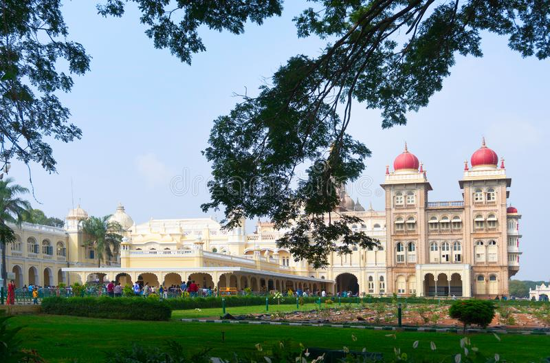 Mysore Palace, Karnataka, India. Mysore Palace is a historical palace and a royal residence at Mysore in the Indian State of Karnataka. It is now the second most stock photography