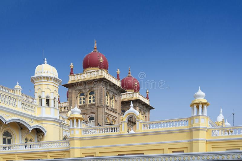 Mysore Palace, Karnataka, India. Mysore Palace is a historical palace and a royal residence at Mysore in the Indian State of Karnataka. It is now the second most royalty free stock photo
