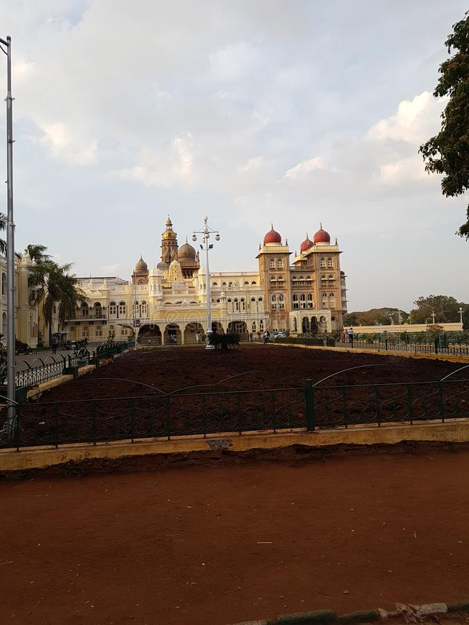 Mysore palace of karnataka royalty free stock photos
