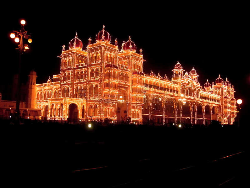 Download Mysore Palace Lighting-XXXV Stock Images - Image: 4074624