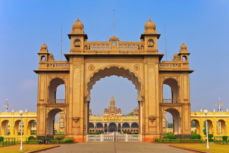 Mysore-Palast stockbild